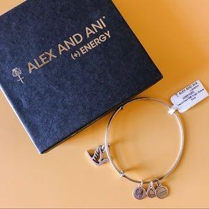 Alex And Ani Sacred Dove Bracelet in Silver